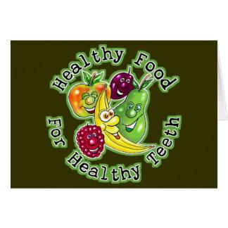 Gesunde Nahrung für gesunde Zähne Karte
