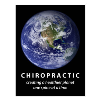 Gesündere Planeten-Chiropraktik-Postkarte Postkarte
