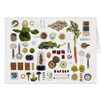 Gesundes Nahrungsmittelgitter auf einem weißen Karte