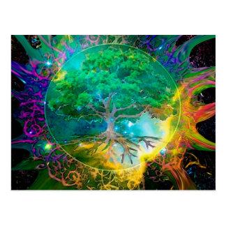 Gesundheits-und Vitalitäts-Baum des Lebens Postkarte