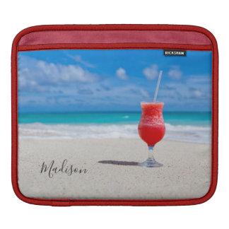 Getränk auf Strand-Name-Geräthülsen Sleeve Für iPads