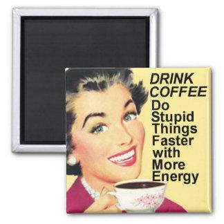 Getränk-Kaffee tun schnelleren quadratischen Quadratischer Magnet
