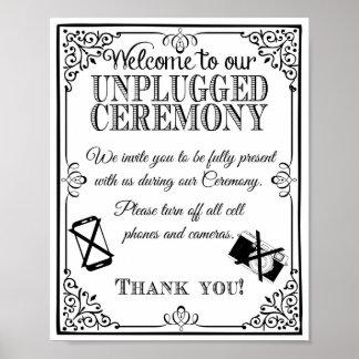 Getrennte Hochzeit der Hochzeit Zeichen Poster