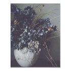 Getrocknete Hortensienblüten, zarte Schönheit. Karte
