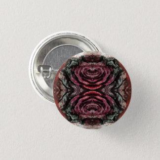 Getrocknete Rote Rose Runder Button 3,2 Cm