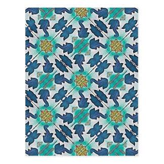 Gewebe-dekorativer Hintergrund Postkarte