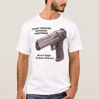 GEWEHRE verlassen Eagle, FRIEDEN T-Shirt