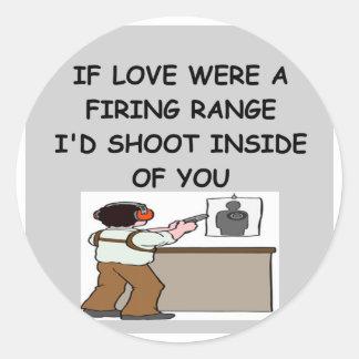 Gewehrliebhaber Runder Aufkleber