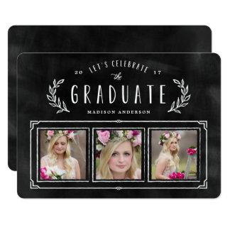 Geweißte Wreath-Abschluss-Einladung 12,7 X 17,8 Cm Einladungskarte