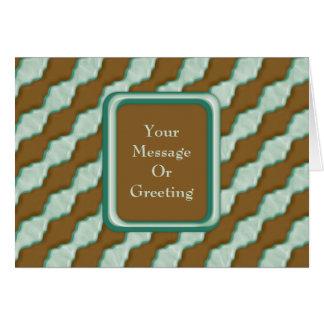 Gewellte Kräuselungen - Schokoladen-Minze Grußkarte