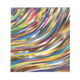 Gewelltes abstraktes notiz blöcke