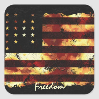 Gewerkschafts-Flagge, ziviler Krieg, US Flagge, Quadrat-Aufkleber