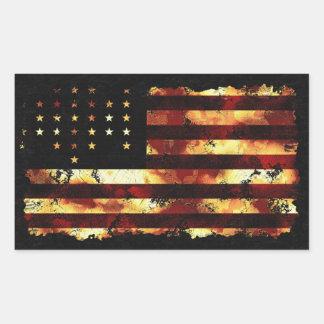 Gewerkschafts-Flagge, ziviler Krieg, US Flagge, Rechteckiger Aufkleber