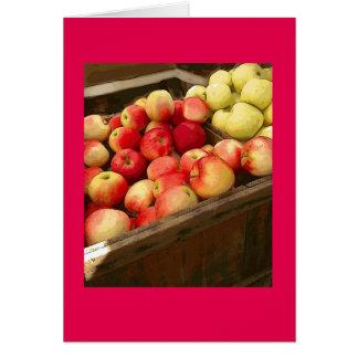 Gewerkschafts-quadratische Äpfel (jüdische neues Grußkarte