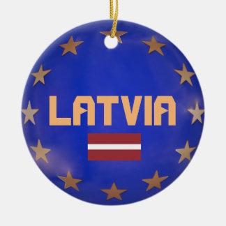 Gewerkschafts-Weihnachtsverzierung Lettlands Keramik Ornament