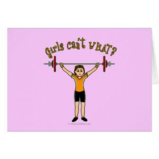 Gewichts-Heber (Licht) Grußkarte
