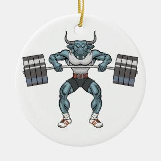 Gewichtsanhebenstier Keramik Ornament