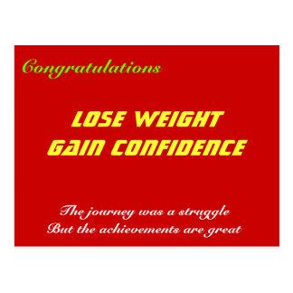 Gewichtsverlust-Glückwunschkarten Postkarte