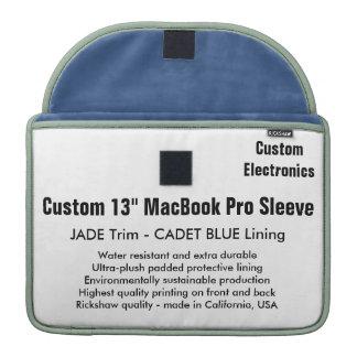 "Gewohnheit 13"" MacBook Pro-Hülse - Jade-u. Sleeves Für MacBook Pro"