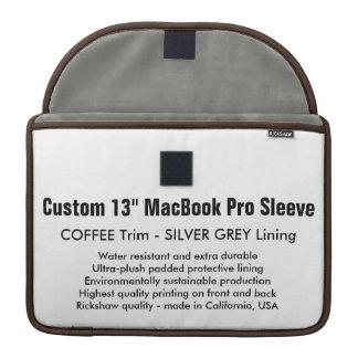 """Gewohnheit 13"""" MacBook Pro-Hülse - Kaffee u. MacBook Pro Sleeves"""
