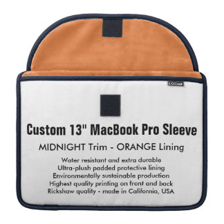 "Gewohnheit 13"" MacBook Pro-Hülse - Mitternacht u. MacBook Pro Sleeve"