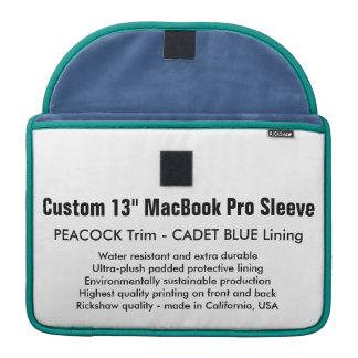 """Gewohnheit 13"""" MacBook Pro-Hülse - Pfau u. Blau Sleeve Für MacBooks"""
