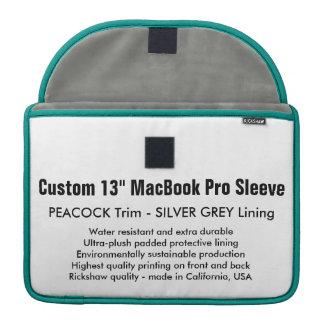 """Gewohnheit 13"""" MacBook Pro-Hülse - Pfau u. Silber MacBook Pro Sleeves"""