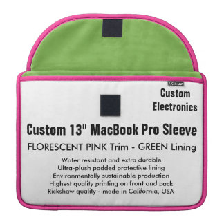 """Gewohnheit 13"""" MacBook Pro-Hülse - Rosa u. MacBook Pro Sleeves"""