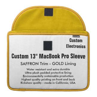 """Gewohnheit 13"""" MacBook Pro-Hülse - Safran u. Gold Sleeve Für MacBooks"""