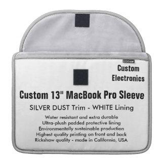 "Gewohnheit 13"" MacBook Pro-Hülse - silberner MacBook Pro Sleeve"
