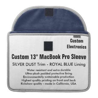 """Gewohnheit 13"""" MacBook Pro-Hülse - silberner Staub Sleeves Für MacBooks"""