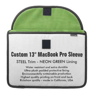 """Gewohnheit 13"""" MacBook Pro-Hülse - Stahl u. Grün Sleeves Für MacBooks"""