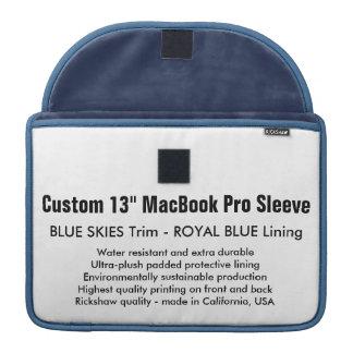 """Gewohnheit 13"""" MacBook Pro-Hülsen-blaue Himmel u. MacBook Pro Sleeves"""