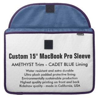 """Gewohnheit 15"""" MacBook Pro-Hülse - Amethyst u. MacBook Pro Sleeves"""