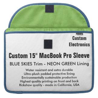 """Gewohnheit 15"""" MacBook Pro-Hülse - blau u. MacBook Pro Sleeves"""