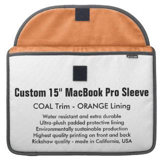 "Gewohnheit 15"" MacBook Pro-Hülse - Kohle u. Orange Sleeves Für MacBook Pro"