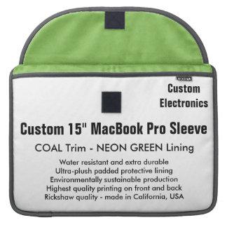 "Gewohnheit 15"" MacBook Pro-Hülse - Kohlen-u. Sleeve Für MacBooks"