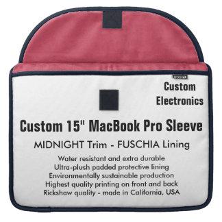 "Gewohnheit 15"" MacBook Pro-Hülse - Mitternacht u. MacBook Pro Sleeves"