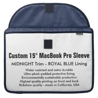 """Gewohnheit 15"""" MacBook Pro-Hülse - Mitternacht u. Sleeve Für MacBooks"""