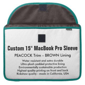 """Gewohnheit 15"""" MacBook Pro-Hülse - Pfau u. Brown Sleeve Für MacBook Pro"""