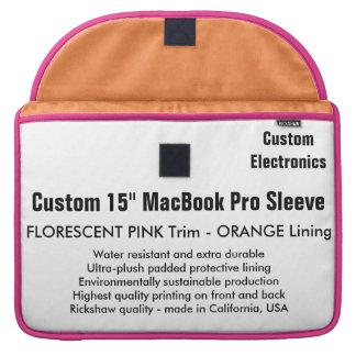 "Gewohnheit 15"" MacBook Pro-Hülse - Rosa u. Orange Sleeve Für MacBook Pro"