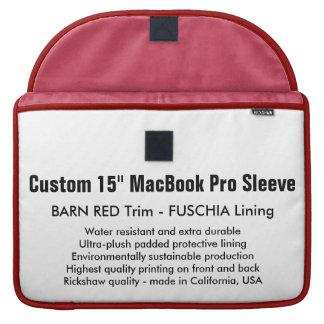 """Gewohnheit 15"""" MacBook Pro-Hülse - Scheune Rot u. MacBook Pro Sleeves"""