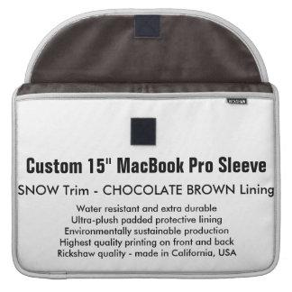 """Gewohnheit 15"""" MacBook Pro-Hülse - Schnee u. Brown MacBook Pro Sleeves"""