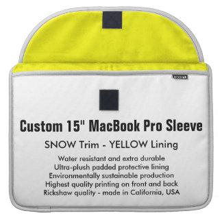 "Gewohnheit 15"" MacBook Pro-Hülse - Schnee u. Gelb MacBook Pro Sleeve"