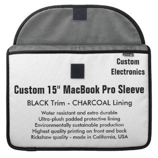 """Gewohnheit 15"""" MacBook Pro-Hülse - Schwarzes u. Sleeves Für MacBook Pro"""