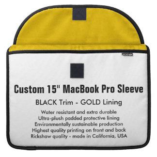 """Gewohnheit 15"""" MacBook Pro-Hülse - Schwarzes u. Sleeve Für MacBooks"""