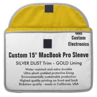 """Gewohnheit 15"""" MacBook Pro-Hülse - Silber u. Gold Sleeve Für MacBook Pro"""
