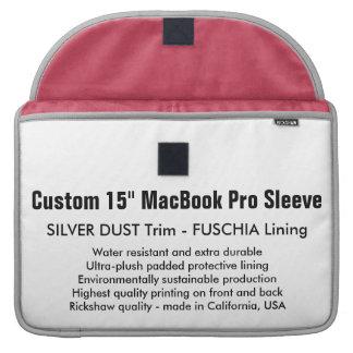 """Gewohnheit 15"""" MacBook Pro-Hülse - Silber u. Sleeves Für MacBook Pro"""