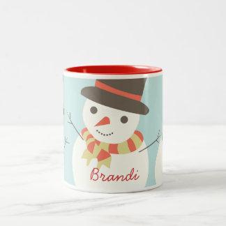 Gewohnheit scherzt Snowman-Party-Tasse Zweifarbige Tasse