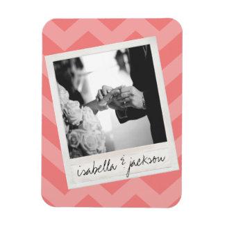Gewohnheits-Text Rahmen Hochzeit Instagram Fotos Vinyl Magnet